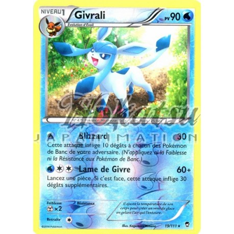 XY3 POINGS FURIEUX RARE N°  19//111 GIVRALI POKEMON