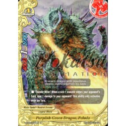 BFE H-BT02/0040EN Purplish Green Dragon, Peluda
