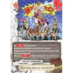"""BFE H-EB03/0025EN Hundred Demons Mission Card, """"Aim for the Link!"""""""