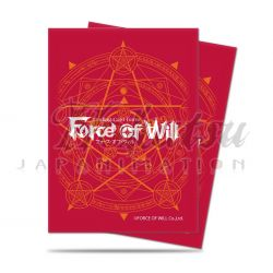 UP - Sleeves Standard - Force of Will - Red Card Back (65ct)