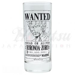 ONE PIECE Verre One Piece Zoro Wanted