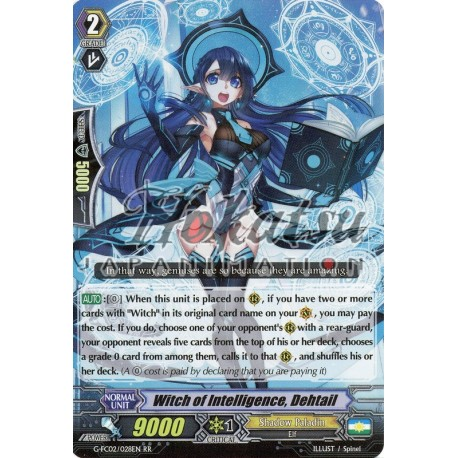 DEHTAIL CARDFIGHT VANGUARD CARD G-FC02//028EN RR RARE WITCH OF INTELLIGENCE