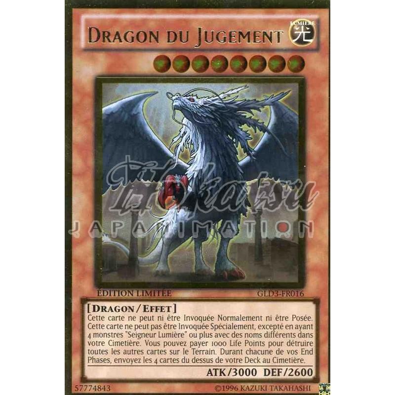 Carte YU GI OH DRAGON DU JUGEMENT GLD3-FR016
