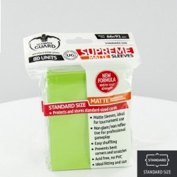 (ct 80) Ultimate Guard - Supreme Sleeves Matte Light Green