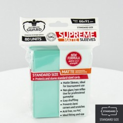 (ct 80) Ultimate Guard - Supreme Sleeves Matte Turquoise