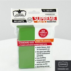 (ct 80) Ultimate Guard - Supreme Sleeves Matte Green