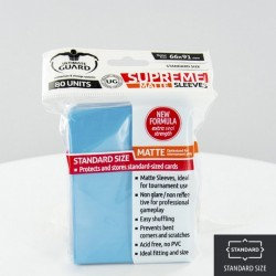 (ct 80) Ultimate Guard - Supreme Sleeves Matte Light Blue