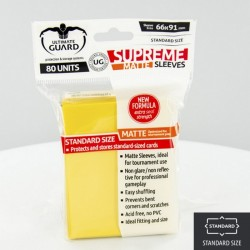 (ct 80) Ultimate Guard - Supreme Sleeves Matte Yellow