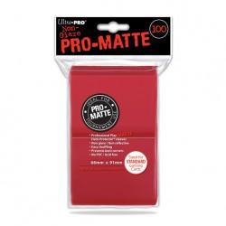 (par 100) Ultra Pro-Matte Rouge Standard Protèges Cartes