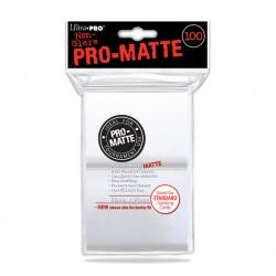 (par 100) Ultra Pro-Matte Blanc Standard Protèges Cartes