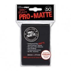 (par 50) Ultra Pro-Matte Noir Standard Protèges Cartes