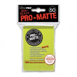 (par 50) Ultra Pro-Matte Jaune Brillant Standard Protèges Cartes