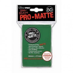 (par 50) Ultra Pro-Matte Vert Standard Protèges Cartes