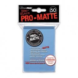 (par 50) Ultra Pro-Matte bleu clair Standard Protèges Cartes