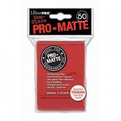 (par 50) Ultra Pro-Matte Rouge Standard Protèges Cartes