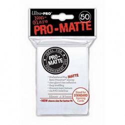 (par 50) Ultra Pro-Matte Blanc Standard Protèges Cartes