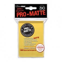 (par 50) Ultra Pro-Matte Jaune Standard Protèges Cartes