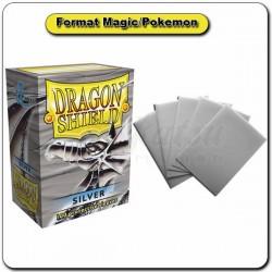(Par 100) Dragon Shield Argent Standard Protèges Cartes