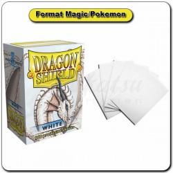(Par 100) Dragon Shield Blanc Standard Protèges Cartes