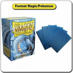 (Par 100) Dragon Shield Bleu Standard Protèges Cartes