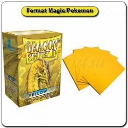 (Par 100) Dragon Shield Jaune Standard Protèges Cartes