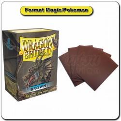 (Par 100) Dragon Shield Marron Standard Protèges Cartes