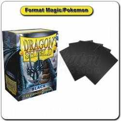 (Par 100) Dragon Shield Noir Standard Protèges Cartes