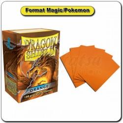 (Par 100) Dragon Shield Orange Standard Protèges Cartes
