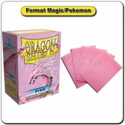 (Par 100) Dragon Shield Rose Standard Protèges Cartes
