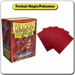 (Par 100) Dragon Shield Rouge Standard Protèges Cartes