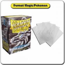 (Par 100) Dragon Shield Transparent Standard Protèges Cartes