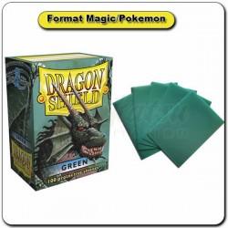 (Par 100) Dragon Shield Vert Standard Protèges Cartes