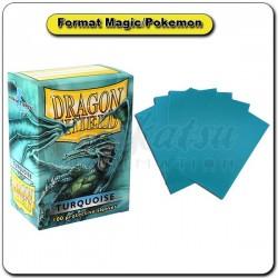 (Par 100) Dragon Shield Turquoise Standard Protèges Cartes