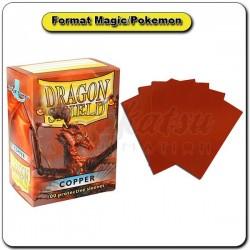 (Par 100) Dragon Shield Cuivré Standard Protèges Cartes