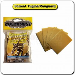 (Par 50) Dragon Shield Or Small Protèges Cartes