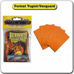 (Par 50) Dragon Shield Orange Small Protèges Cartes