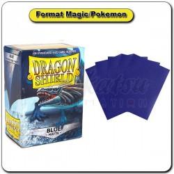 (Par 100) Dragon Shield Matte Bleu Standard Protèges Cartes