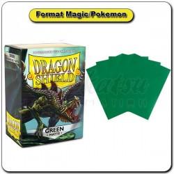 (Par 100) Dragon Shield Matte Vert Standard Protèges Cartes
