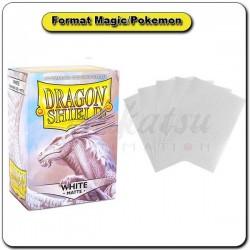 (Par 100) Dragon Shield Matte Blanc Standard Protèges Cartes
