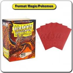 (Par 100) Dragon Shield Matte Rouge Standard Protèges Cartes