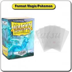 (Par 100) Dragon Shield Matte Clear Standard Protèges Cartes