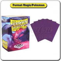 (Par 100) Dragon Shield Matte Violet Standard Protèges Cartes