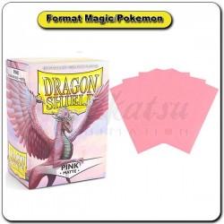 (Par 100) Dragon Shield Matte Rose Standard Protèges Cartes