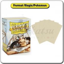 (Par 100) Dragon Shield Matte Ivoire Standard Protèges Cartes