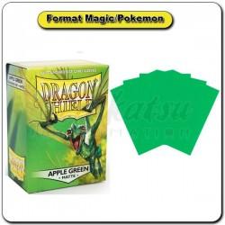 (Par 100) Dragon Shield Matte Vert Pomme Standard Protèges Cartes