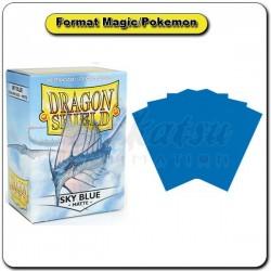 (Par 100) Dragon Shield Matte Bleu Ciel Standard Protèges Cartes