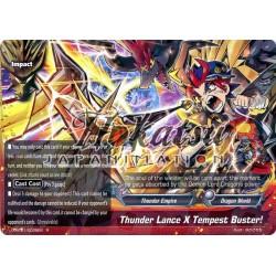 BFE X-BT01/0028EN R Thunder Lance X Tempest Buster!