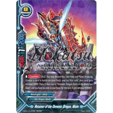 Engli Buddyfight x 4 Retainer of the Demonic Dragon X-BT01/0127EN SECRET Walm
