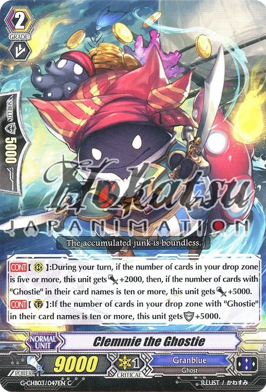 G-CHB03//047EN C CLEMMIE THE GHOSTIE CARDFIGHT VANGUARD CARD