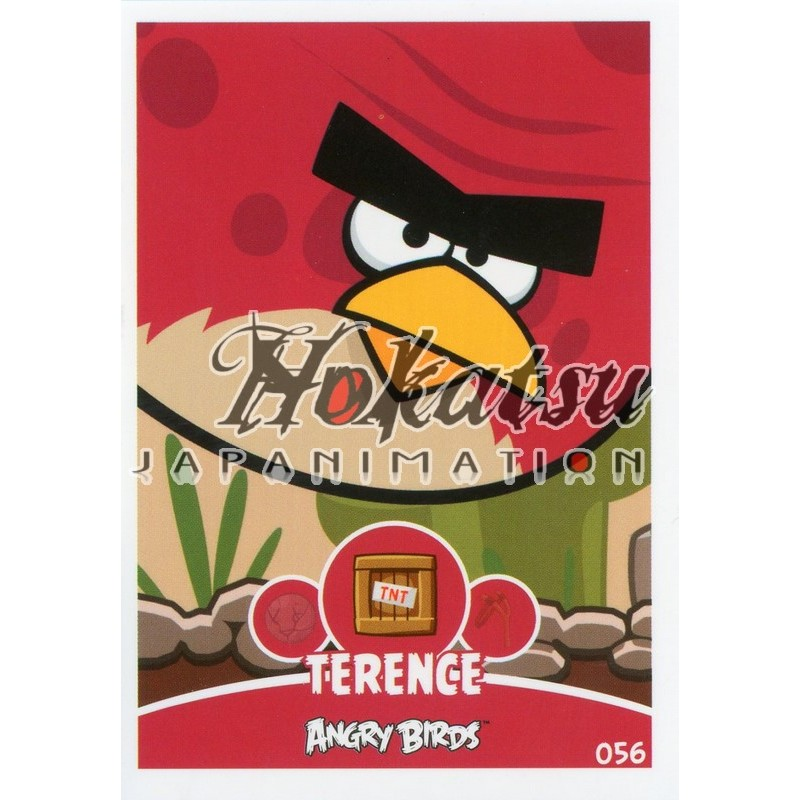 Angry Birds,Terence ,056/180 ,Angry Birds,Unit Cards,Card to be  collected,Playing card,card,Hokatsu com,Hokatsu Fr,Hokatsu,Sale,